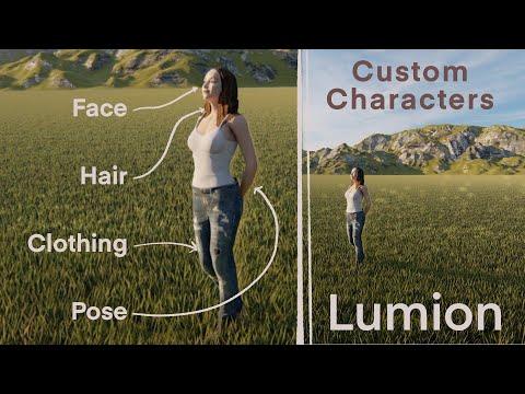 Create Custom Characters For Lumion Using Character Creator And Headshot