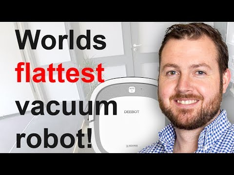 English: Worlds flattest 🛏️ vacuum robot - Unboxing the deebot ecovacs Slim 2 with App