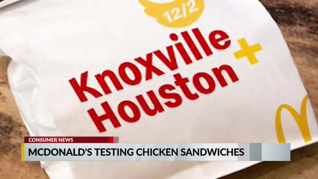 Kết quả hình ảnh cho McDonald's is testing out a fried chicken sandwich in two cities