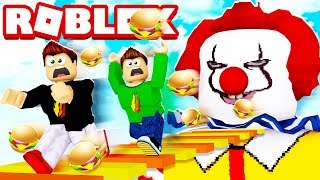 ROBLOX ESCAPE MCDONALDS OBBY WITH MY LITTLE BROTHER!