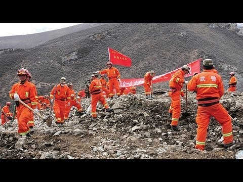 Tibet: Major Landslide Rescue Effort For Buried Miners