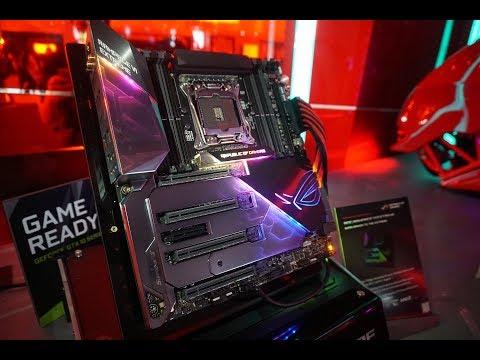 Computex 2017 - Asus, ROG, Rampage VI Extreme, Strix X299 Gaming-E, Poseidon, X399 Zenith