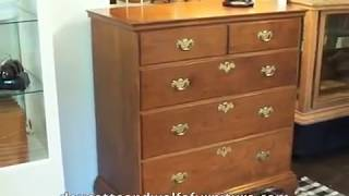 Queen Anne Chest Of Drawers  Queen Anne Furniture By Doucette And Wolfe Furniture Makers Colonial