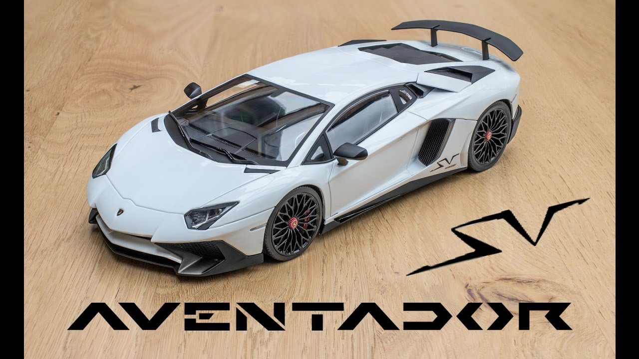 Lamborghini Aventador Roadster Review >> 1:18 LAMBORGHINI Aventador SV (white) - Kyosho Ousia [Unboxing and Review] - YouTube