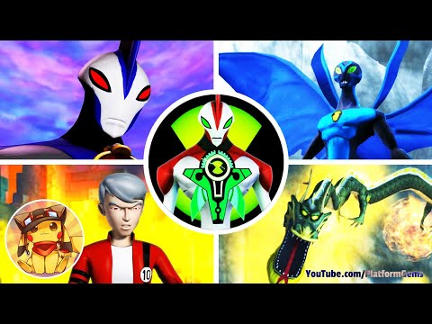 All Boss Fights & Final Boss - Ben 10 Ultimate Alien Cosmic Destruction (2010) [1080p] No commentary