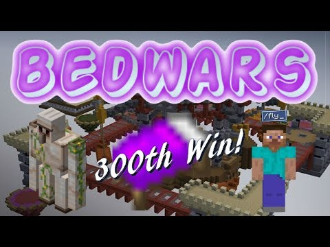 Fly Hackers, Traps, and 300 Wins! (Minecraft Bedwars)