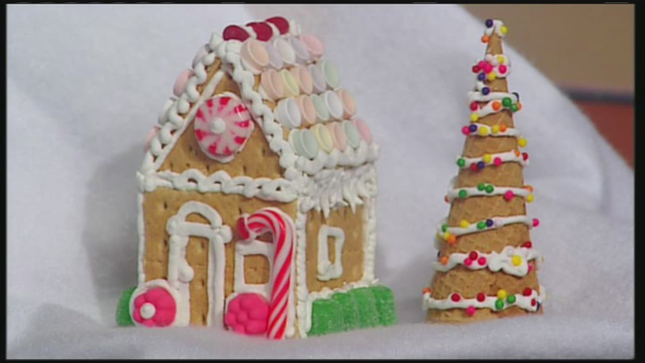 mini graham cracker gingerbread houses youtube