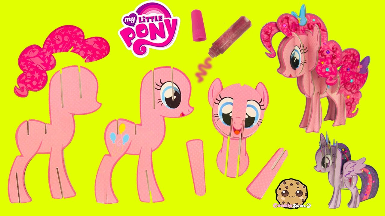 create build a 3d my little pony pinkie pie mlp craft kit