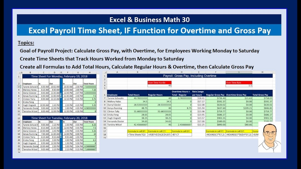 how to calculate gross pay with overtime