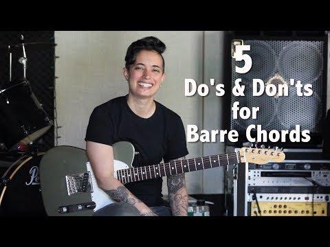 Guitar Tips & Tricks: 38 5 Do's & Don'ts for Barre Chords  Jen Trani