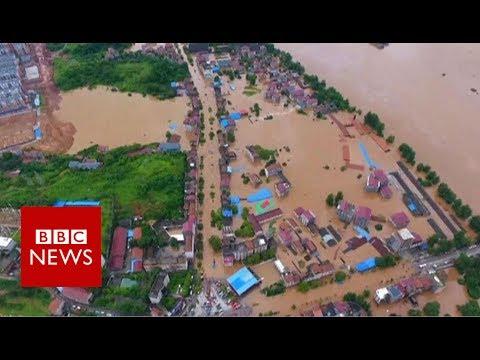 China floods: Dozens killed, more than a million evacuated - BBC News