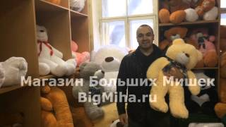 Большие плюшевые медведи в магазине на Невском 32(, 2015-03-27T17:52:25.000Z)