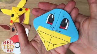 Easy Squirtle DIY - Pokemon Bookmarks - Origami Inspired - Pokemon Go