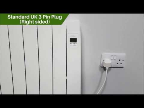 Futura Eco Electric Wall Mounted Ceramic Radiator Key Features