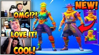 NEW *NINJA* USES  'HAY MAN' & 'STRAW OPS' SKINS! + T POSE ! FORTNITE gameplay HIGHLIGHTS