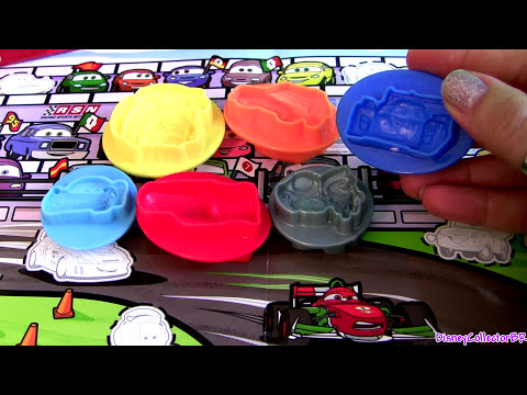 cars 2 play doh mold build lightning mcqueen car luigi guido mater