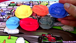 Cars 2 Play Doh Mold Build Lightning Mcqueen Car Luigi Guido, Mater Disney Pixar Play Dough Toys