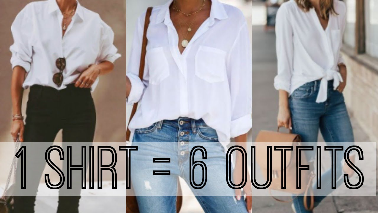 How to Style a White Button Down   20 Shirt 20 Ways