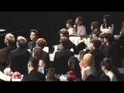 [EXO SNSD's FanBoy] 140212 EXO during I Got A Boy - Gaon Chart K Pop Awards