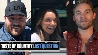Last Question With Country Music's Biggest Stars!
