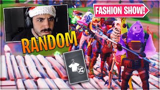 *RANDOM* Fortnite Fashion Show! FIRE Skin Competition! Best DRIP & COMBO WINS!