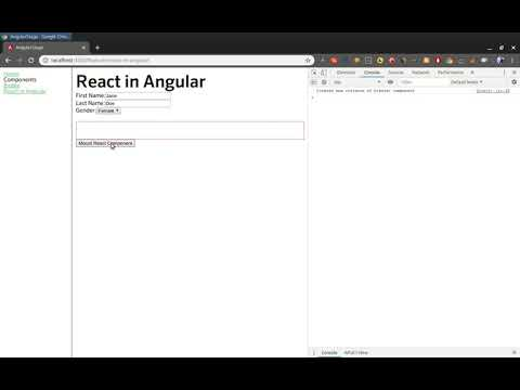 Using React component in Angular application thumbnail