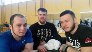 Утренняя тренировка в сборной РФ