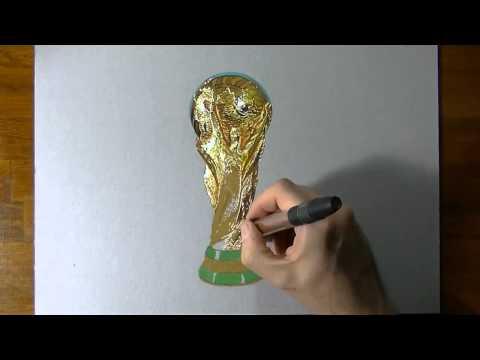 Как нарисовать кубок мира  Чемпионат мира по футболу(Кубок чемпионата мира)