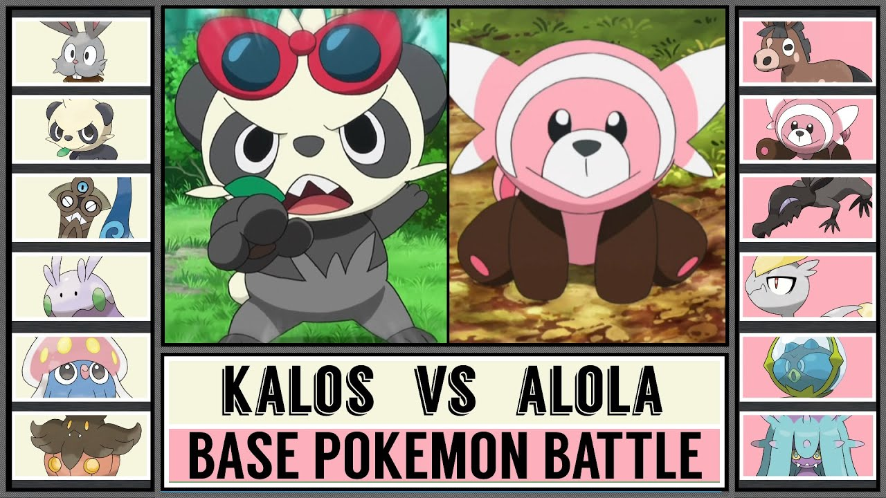 Base Pokémon Battle: KALOS vs ALOLA