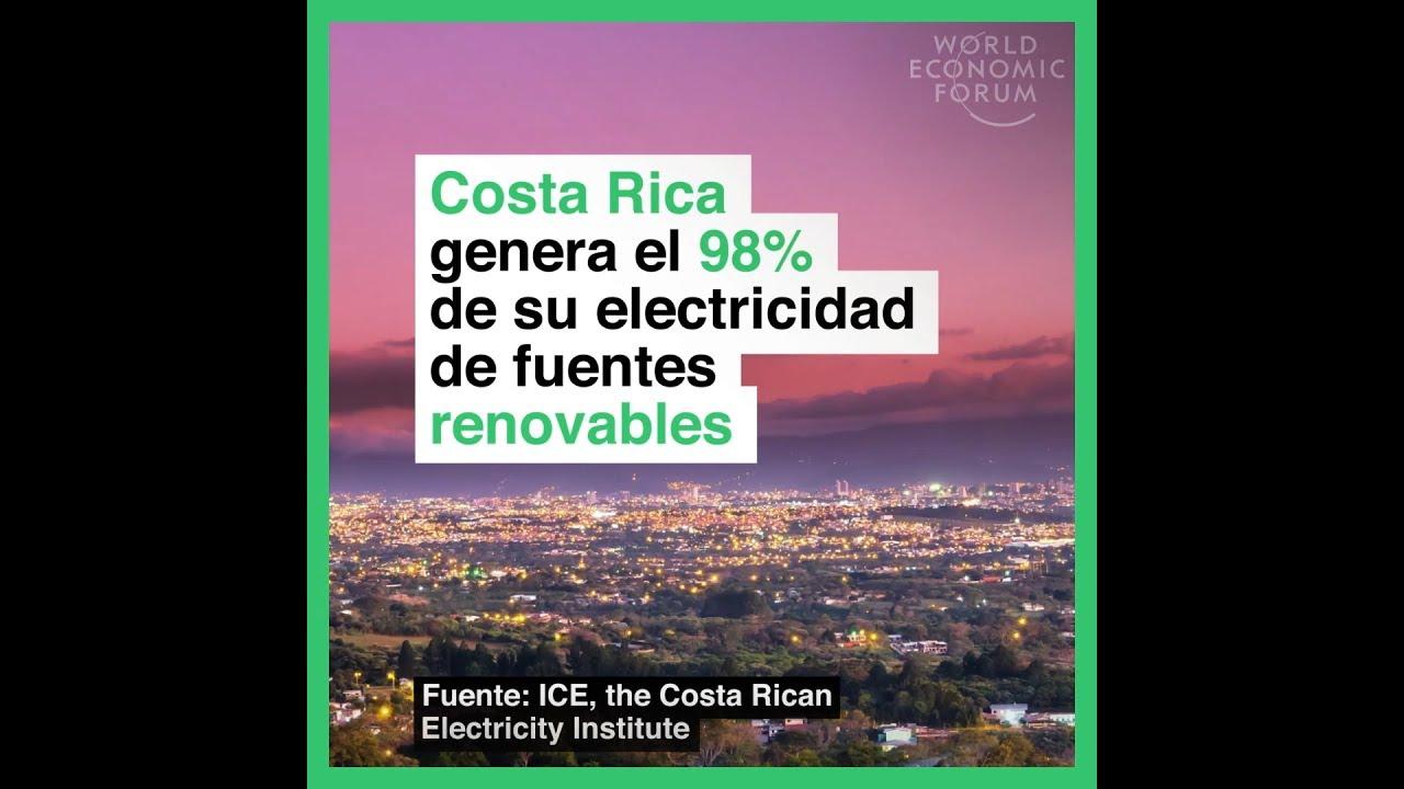 Costa Rica genera el 98% de su electricidad de fuentes renovables