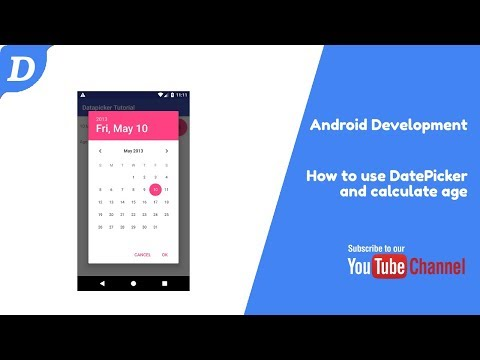Android DatePicker Tutorial With Age Calculation