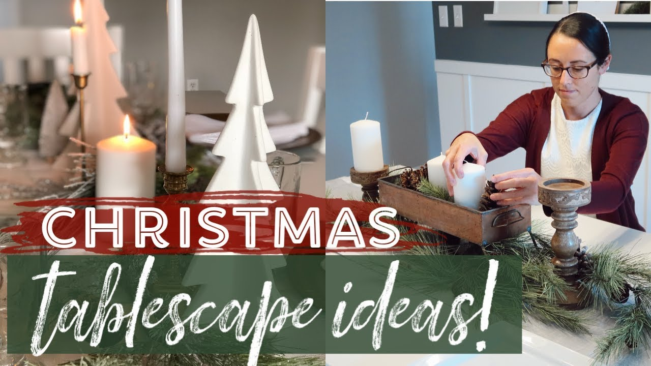 Christmas Table Scape Ideas.How To Decorate A Table For Christmas 2 Christmas Tablescape Ideas