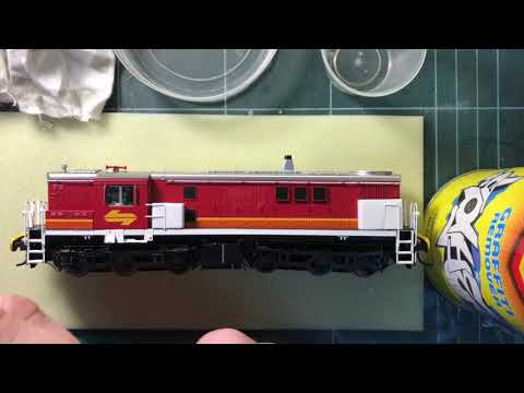 Removing Tampo ink from Auscision 48 class locomotive