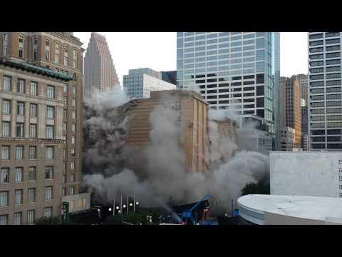 Macys demolition downtown Houston