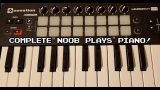 Complete music noob plays Piano and Guitar!