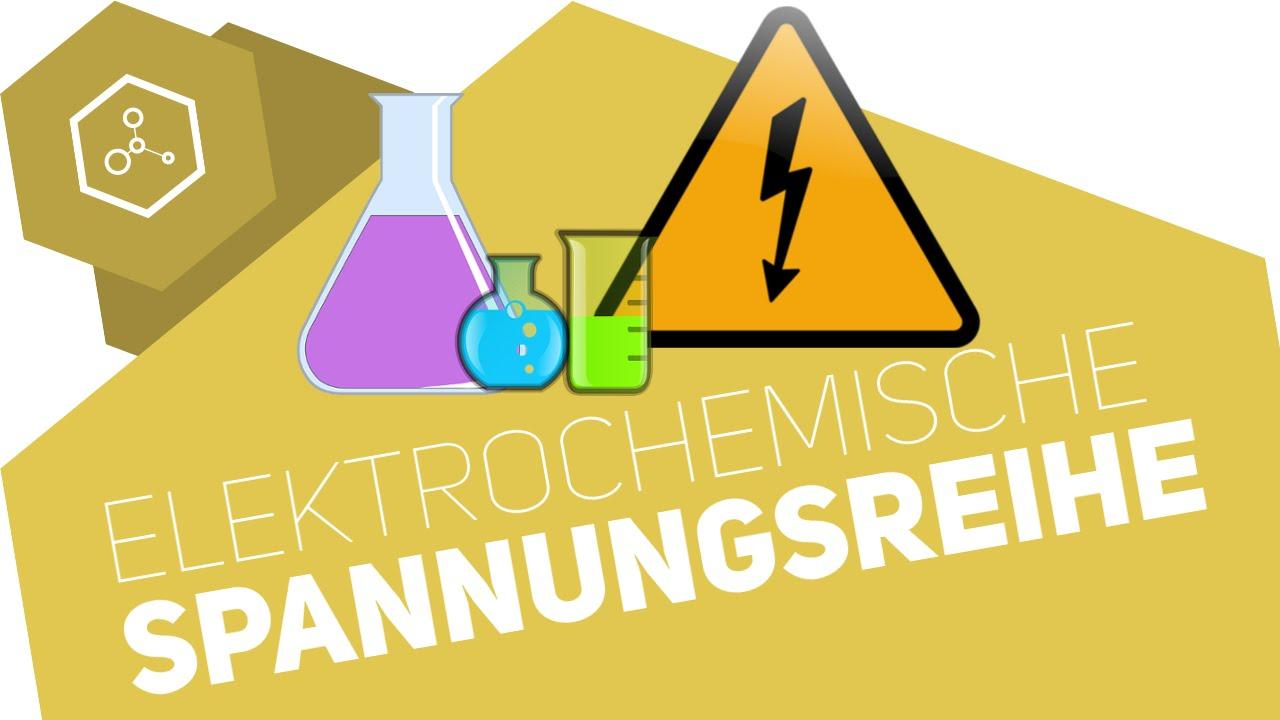Elektrochemische Spannungsreihe / Redoxreihe - Abitur - YouTube