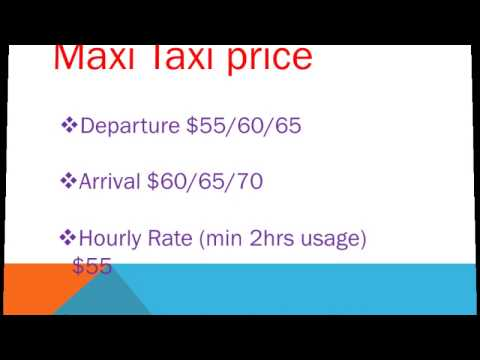 Best online maxi taxi Service in Singapore