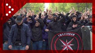 Torino, ultras Ajax in corteo lungo corso Vittorio Emanuele
