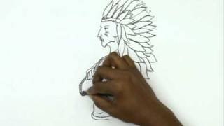 How to Draw a Chief With Headdress