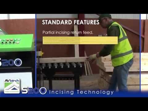 AV Birch Timber Incising Machine