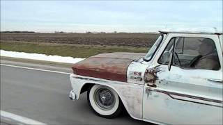 1965 Chevy C10 Bagged on Roadmaster Frame