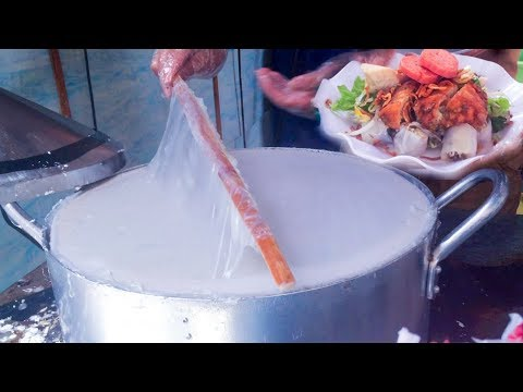 Asian Street Food, Cambodia Phnom Penh Street Food, Noodles Cut, Noodles Khmer