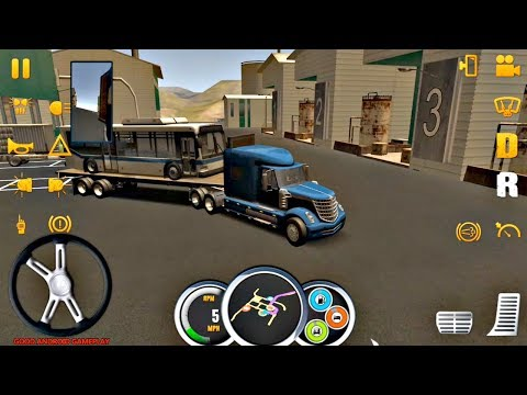 Truck Simulator USA #1 - PRO Driver | Bus Trailer Transport | Android Gameplay FHD