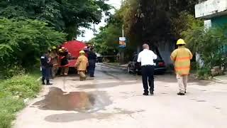Se incendió auto en San Vicente