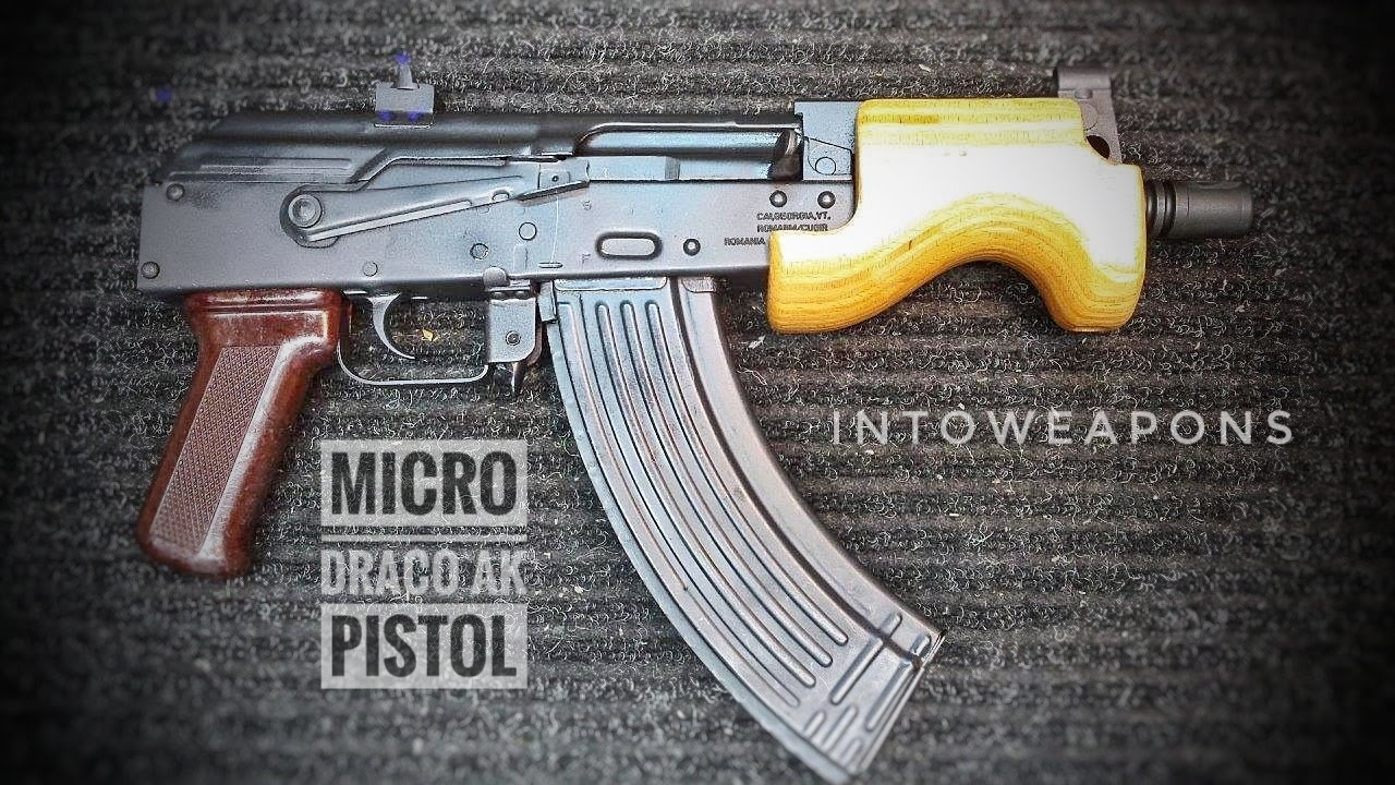 micro draco ak pistol review tiny ak pocket pistol youtube