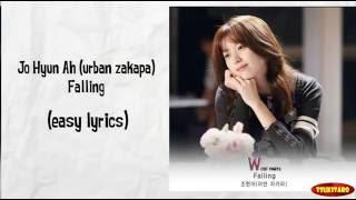 Gambar cover Jo Hyun Ah (urban zakapa) - Falling Lyrics (easy lyrics)