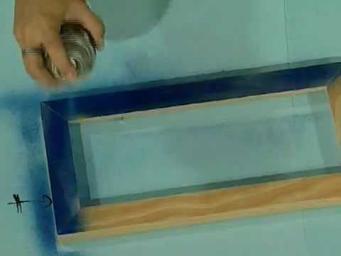 Marcos portarretratos pintura en aerosol sobre madera - Pintura para madera barnizada ...