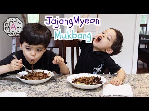 【Mukbang/Eating Show】 Jajangmyeon A.K.A. Black Bean Paste Noodles & Q&A