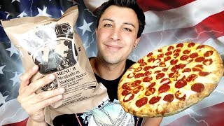 JE TESTE LA RATION MILITAIRE PIZZA PEPERONI !