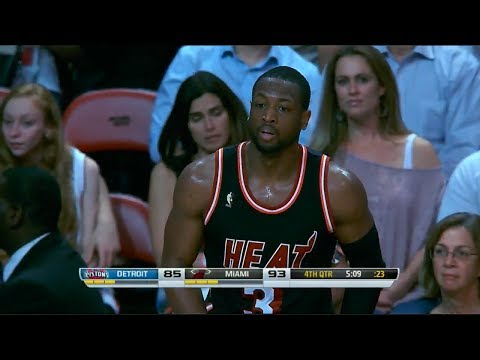 2014.02.03 - Dwyane Wade Full Highlights vs Pistons - 30 Pts, 10 Reb, 5 Assists